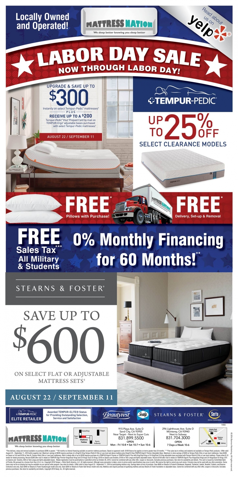 Mattress Nation Labor Day Sale 2016   Lighthouse District