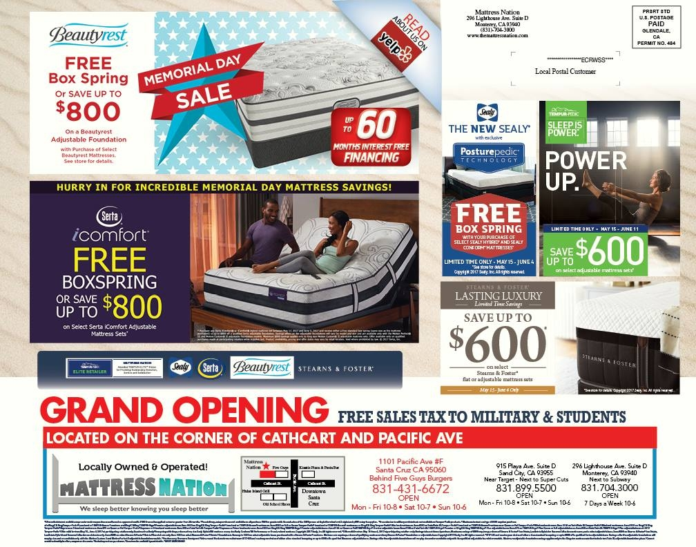 Mattress Nation Memorial Day Sale 2017 Lighthouse District