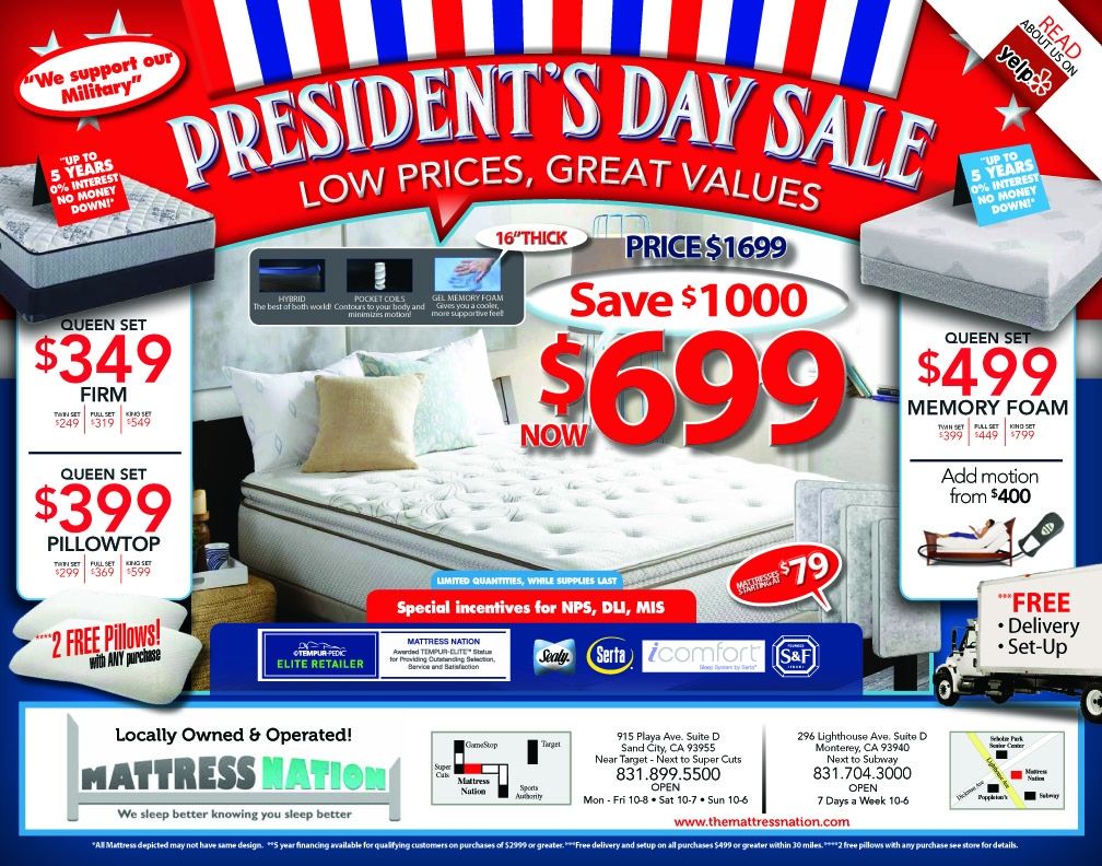 sale sales s mattress charleston president presidents the day
