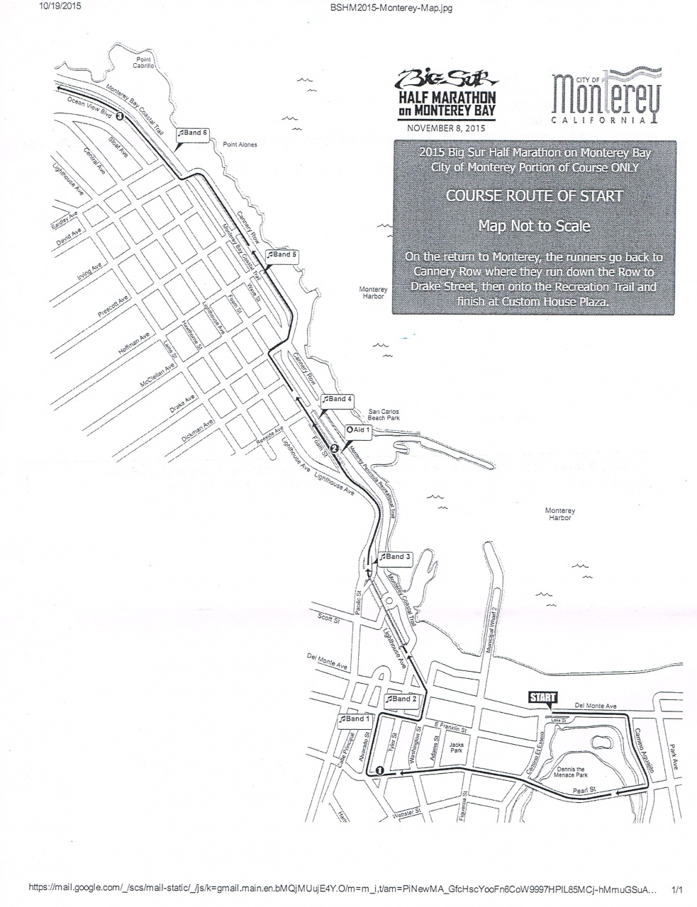 Big Sur Half Marathon Elevation Map.Big Sur Half Marathon Impact On Monterey Lighthouse District