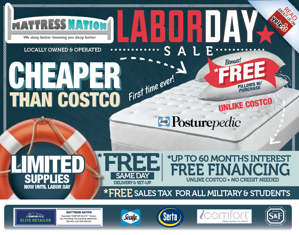 Mattress Nation Labor Day Sale 2015 Lighthouse District